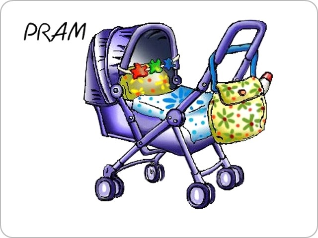Pram - Illustration for vocabulary for teenagers